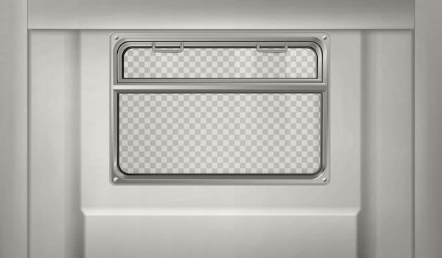 Train Ou Wagon De Métro Réaliste Avec Fenêtre Vecteur gratuit