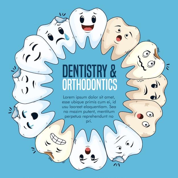 Traitement De Dentisterie Avec Des Soins D'hygiène De La Médecine Vecteur gratuit