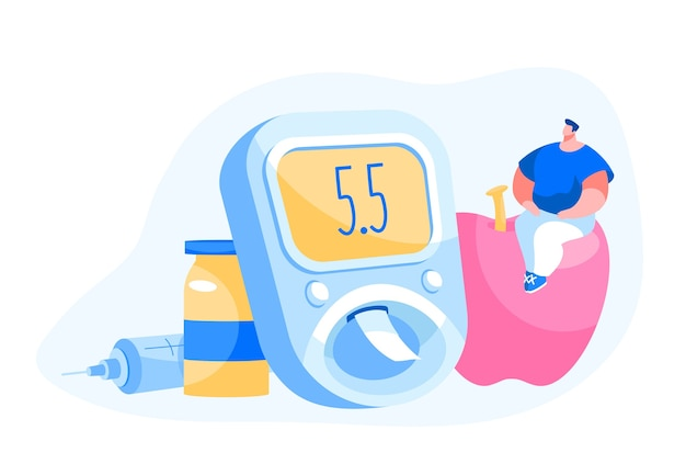 Traitement Des Patients Diabétiques Et Concept De Mode De Vie Vecteur Premium
