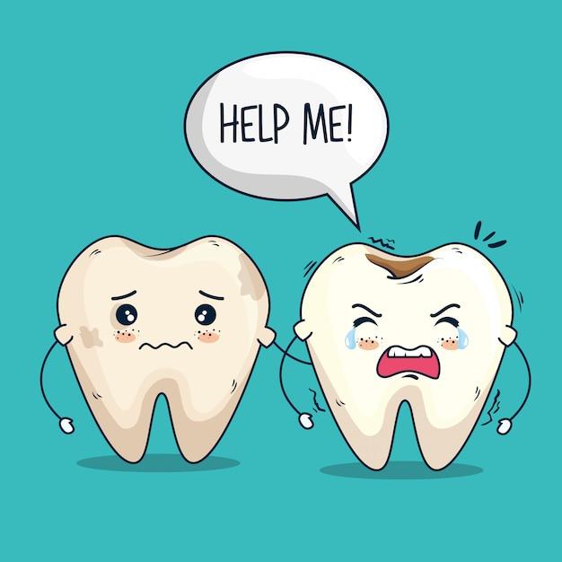 Traitement De Soin Des Dents Vecteur gratuit