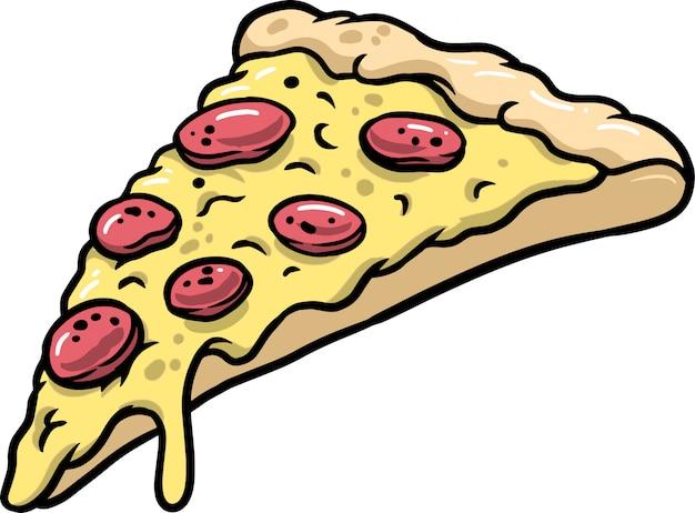 Tranche de pizza Vecteur Premium