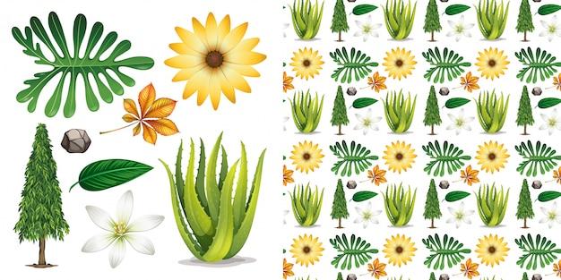 Transparent avec le jardinage thème objets isolés Vecteur gratuit