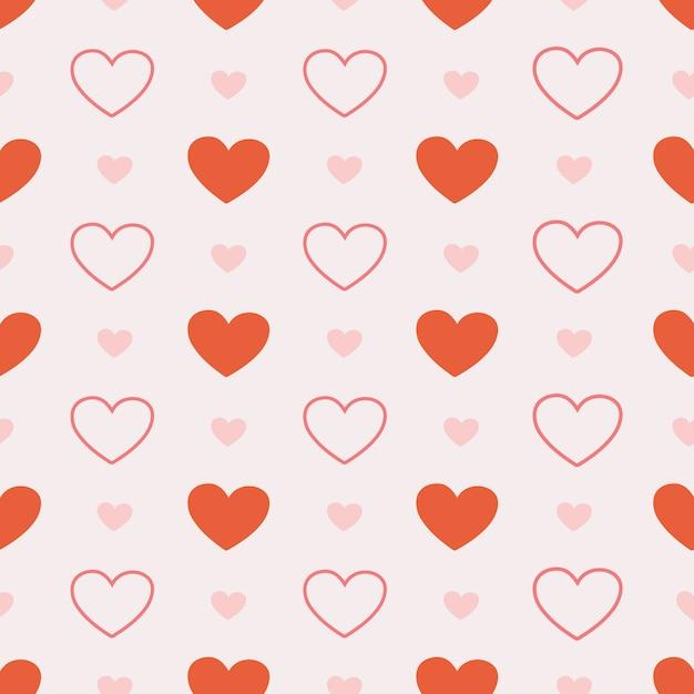 La Transparente Du Coeur Mignon Sur Rose Vecteur Premium