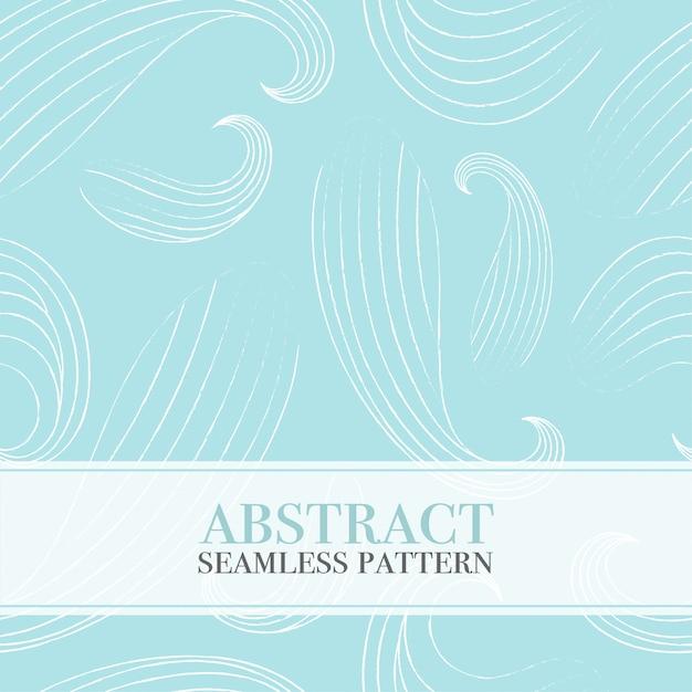 Transparente motif abstrait avec des vagues. Vecteur Premium