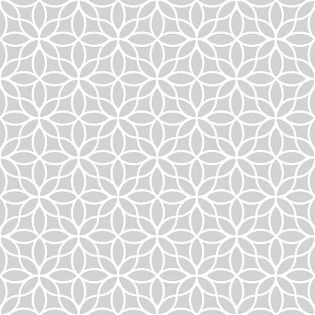 Transparente motif floral abstrait en style oriental Vecteur Premium