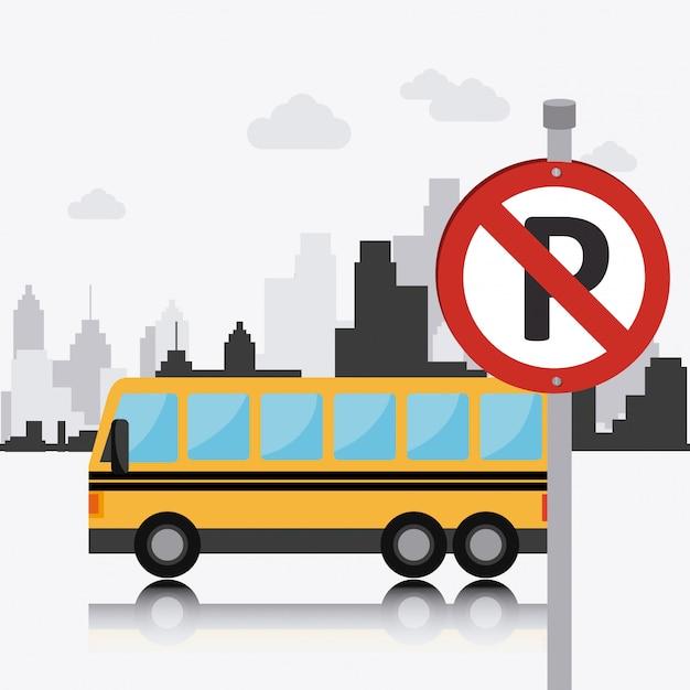 Transport, circulation et conception des véhicules Vecteur gratuit