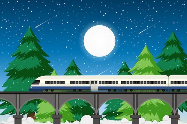 Transport rural dans la nature Vecteur gratuit