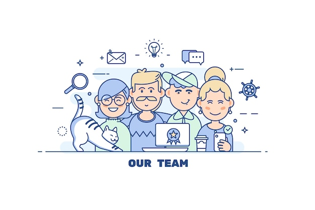 Travail D'équipe Des Gens D'affaires Vecteur Premium
