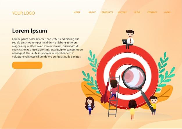 Le travail d'équipe pour trouver de nouvelles idées, les petites personnes lancent un mécanisme, Vecteur Premium