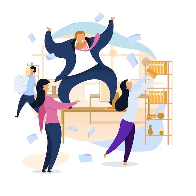 Travail Rush, Bureau Chaos, Illustration Illustration Vecteur gratuit
