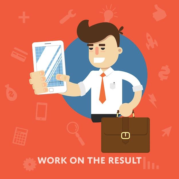 Travailler sur l'illustration du résultat Vecteur Premium