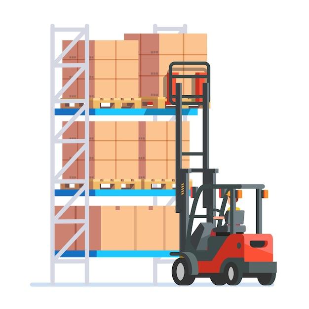 Travailleurs d'entrepôt et de livraison Vecteur gratuit