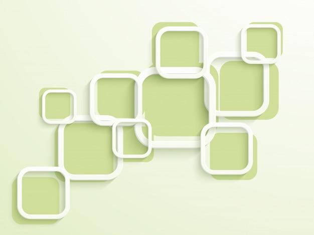 Trendy Plat Blanc Et � Carrés Verts, Fond Abstrait Pour La Brochure, Le Dépliant Ou La Conception De Présentations. Vecteur gratuit