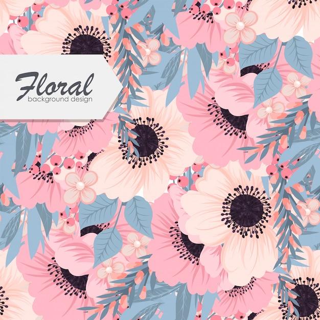 Trendy seamless floral Vecteur gratuit