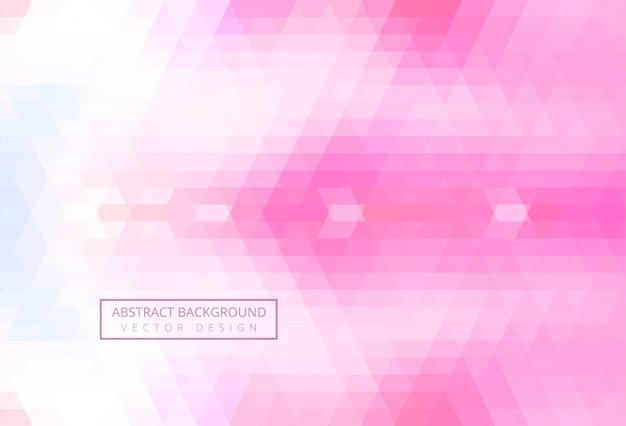 Triangle Abstrait Motif Fond Rose Vecteur gratuit
