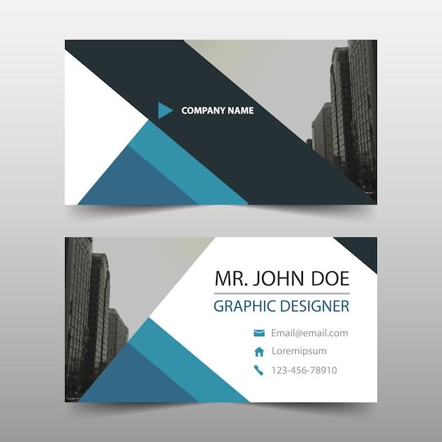 carte de visite entreprise Triangle Bleu Modèle De Carte De Visite D'entreprise | Vecteur
