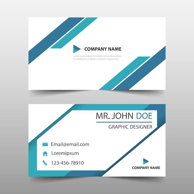 triangle bleu modèle de carte de visite d'entreprise Vecteur gratuit