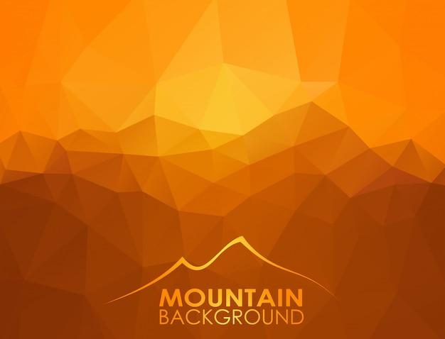 Triangle Fond Géométrique Avec Des Montagnes Vecteur Premium