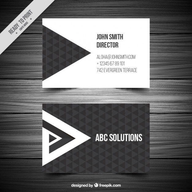Triangles carte de visite Vecteur gratuit