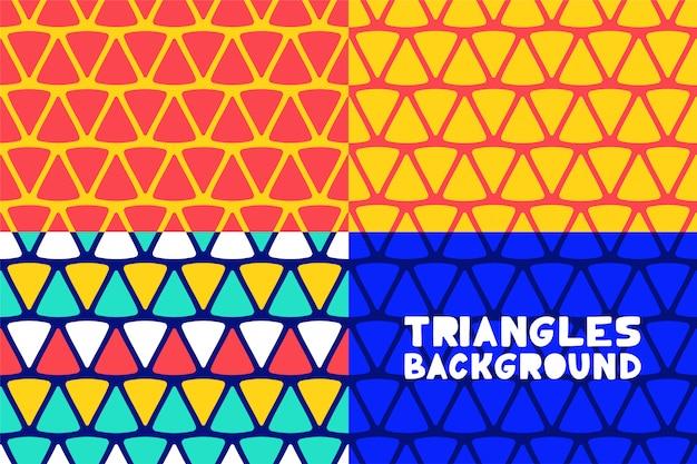 Triangles géométriques abstraites de fond pour la conception de la couverture de brochure entreprise. Vecteur Premium