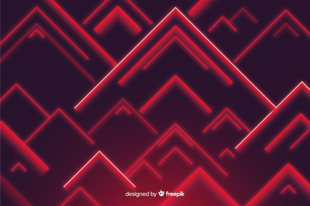 Triangles rouges fond faible poly Vecteur gratuit