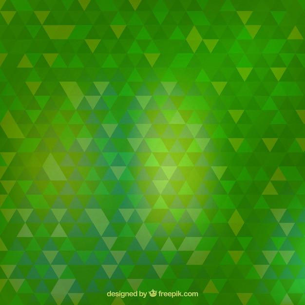 Triangles Verts Fond Vecteur gratuit