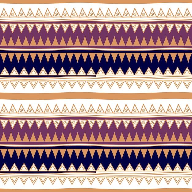 Tribal abstrait rayures modèle sans couture Vecteur Premium