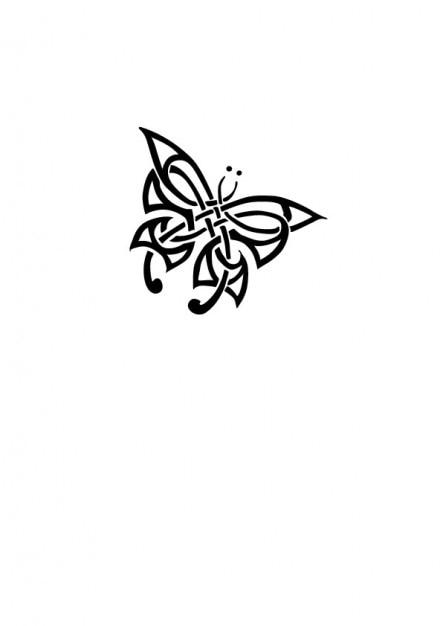 Tribal tatouage de papillon t l charger des vecteurs - Tribal papillon ...