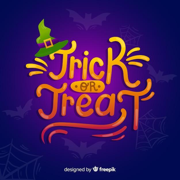 Trick or treat fond d'inscription Vecteur gratuit