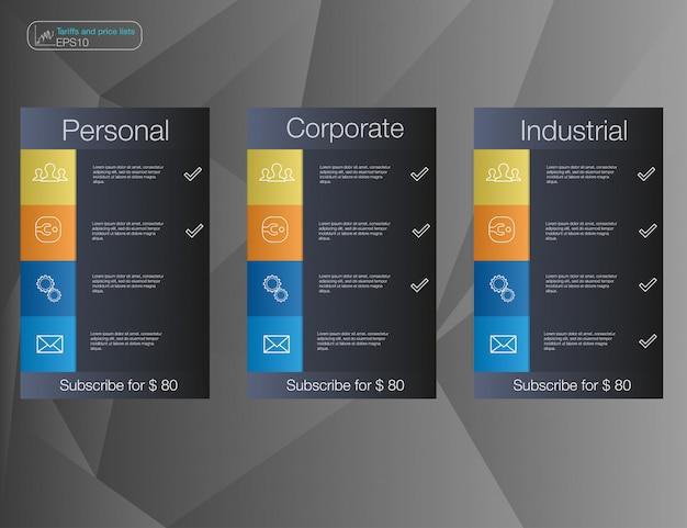 Trois Bannière Vecteur Premium
