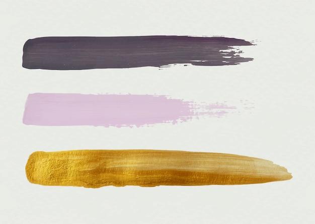 Trois coups de pinceau Vecteur gratuit