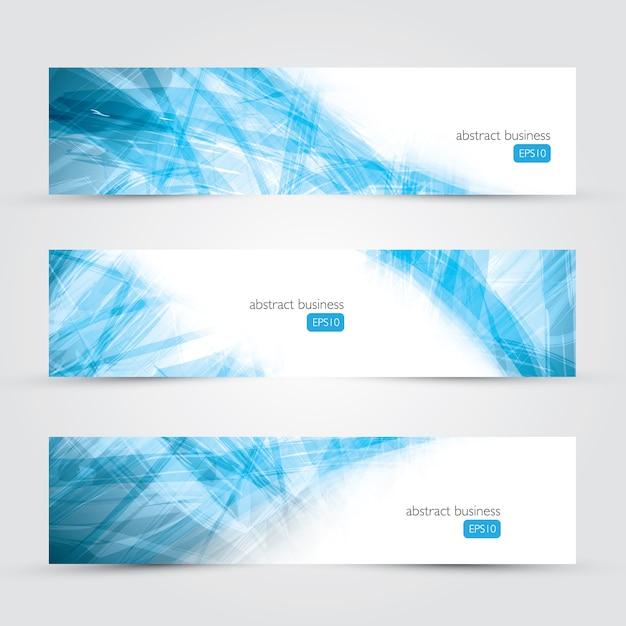 Trois Vecteurs De Bannière Abstrait Affaires Bannière Vecteur Premium