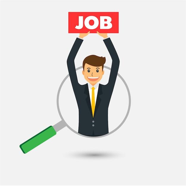 Trouver la bonne personne pour le concept d'emploi, homme d'affaires Vecteur Premium