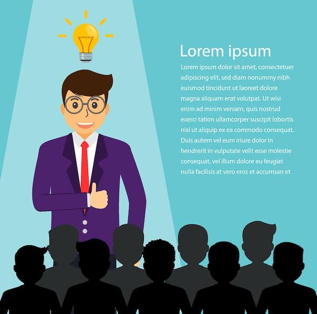 Trouver une personne pour un emploi, un homme d'affaires Vecteur Premium