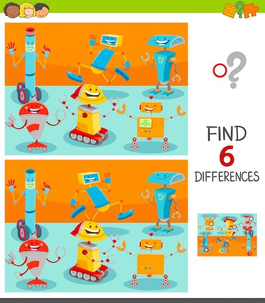 Trouvez les différences entre le jeu d'images pour les enfants Vecteur Premium