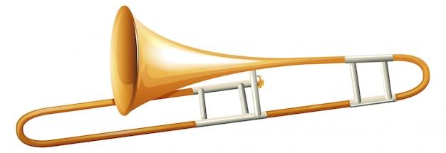 Trumbone sur fond blanc Vecteur gratuit
