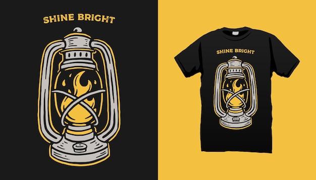 Tshirt Lampe Tempête Vecteur Premium