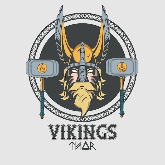 Tshirt vikings warriors imprimé Vecteur gratuit
