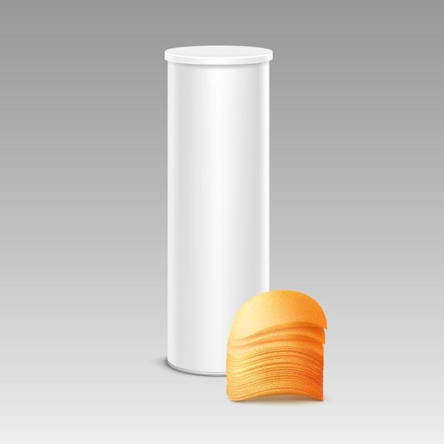 Tube De Conteneur De Boîte En Fer Blanc Vecteur Premium