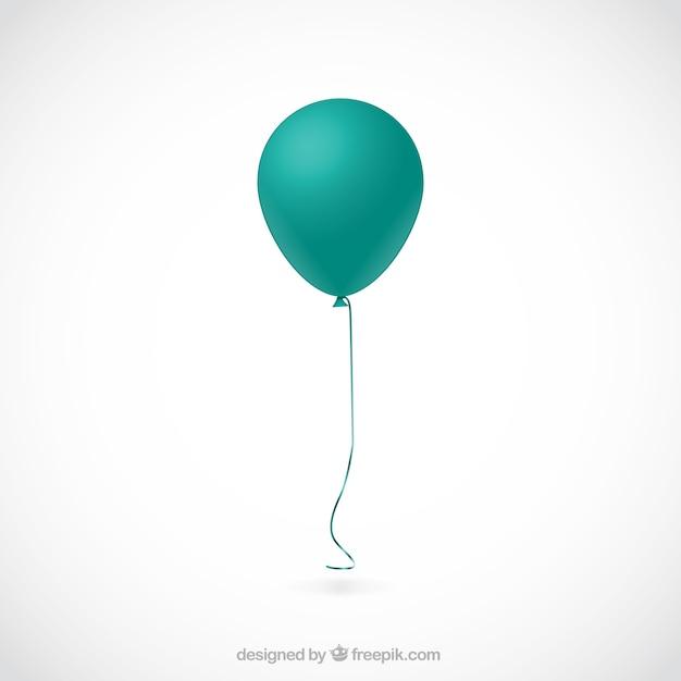 Turquoise ballon Vecteur gratuit