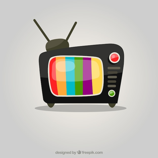 TV Colorful Vecteur gratuit