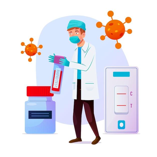 Type De Test De Coronavirus Vecteur gratuit