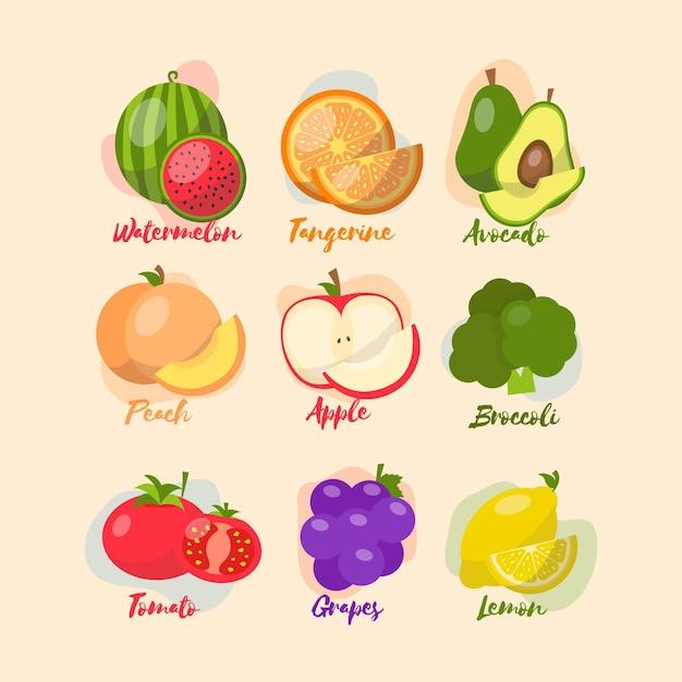 Types De Boosters Du Système Immunitaire Fruits Et Légumes Vecteur gratuit