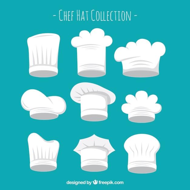 Types De Chapeaux De Chef Collection De Chapeaux Vecteur gratuit