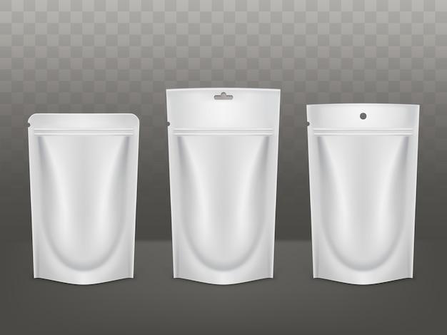 Types d'emballage en polyéthylène Vecteur gratuit