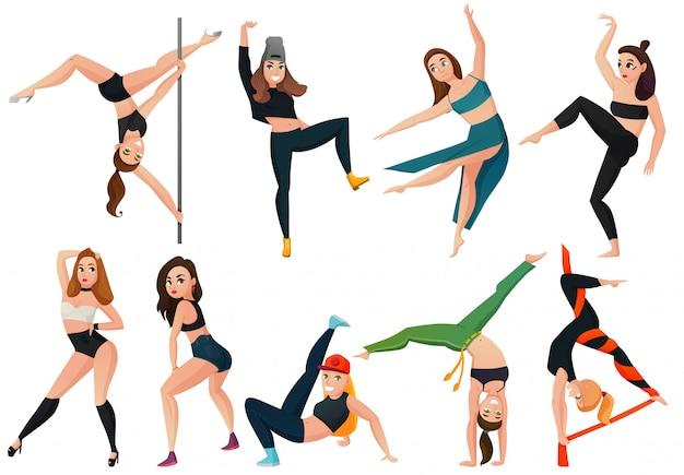 Types Modernes De Jeu De Danse Vecteur gratuit