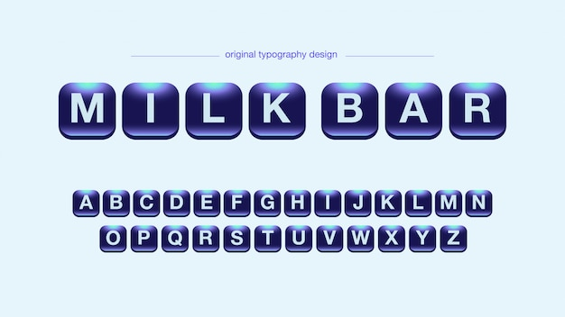 Typographie alphabet néon brillant Vecteur Premium