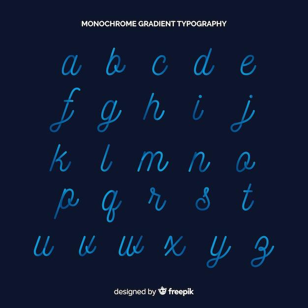 Typographie dégradé monochrome Vecteur gratuit