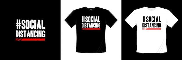 Typographie De Distanciation Sociale Vecteur Premium