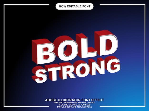 Typographie éditable Forte De Style Graphique Audacieux Vecteur Premium